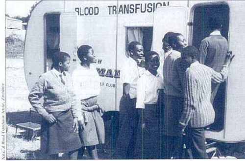 HIV testing is essential to ensure a safe blood supply. In Zimbabwe, high school students are encouraged to donate blood.
