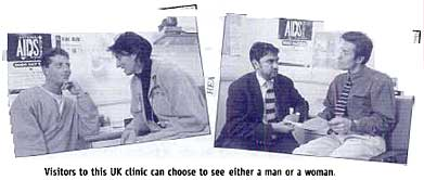 Visitors to this UK clinic can choose to see either a man or a woman.